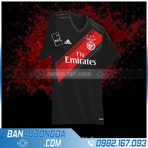 áo bóng đá tự chế màu đen HZ 389