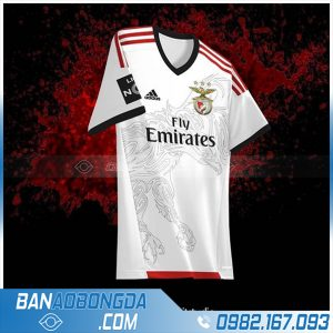 áo bóng đá may theo yêu cầu HZ 390 màu trắng
