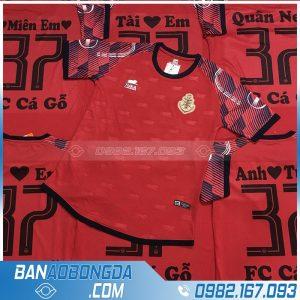 in áo bóng đá đẹp màu đỏ HZ1