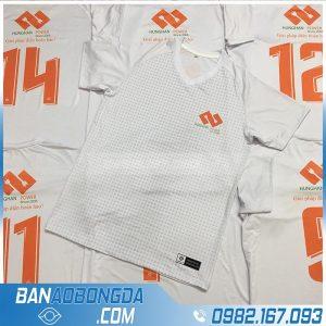 in quần áo bóng đá màu trắng HZ 02 cực chất