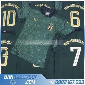 in áo đội tuyển Ý HZ 26 màu xanh rêu