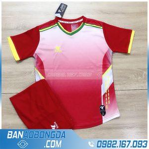 áo bóng đá k logo LM13 màu đỏ
