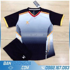 áo bóng đá không logo đẹp LM13 màu đen