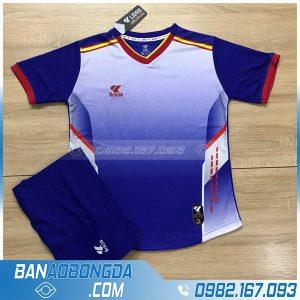 đồng phục bóng đá không logo LM13 màu xanh dương