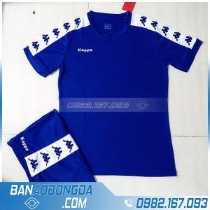 áo đá banh không logo LM14 màu xanh dương