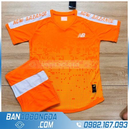 áo bóng đá không logo cao cấp LM15 màu cam
