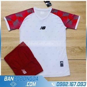 áo bóng đá không logo NB HZLM01 Aniana màu trắng đỏ