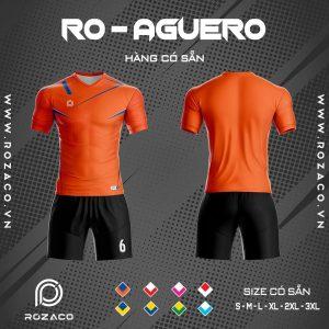 áo bóng đá không logo Aguero màu cam