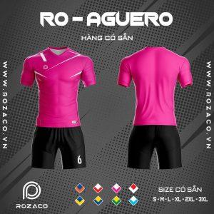 áo bóng đá không logo màu hồng giá rẻ aguero