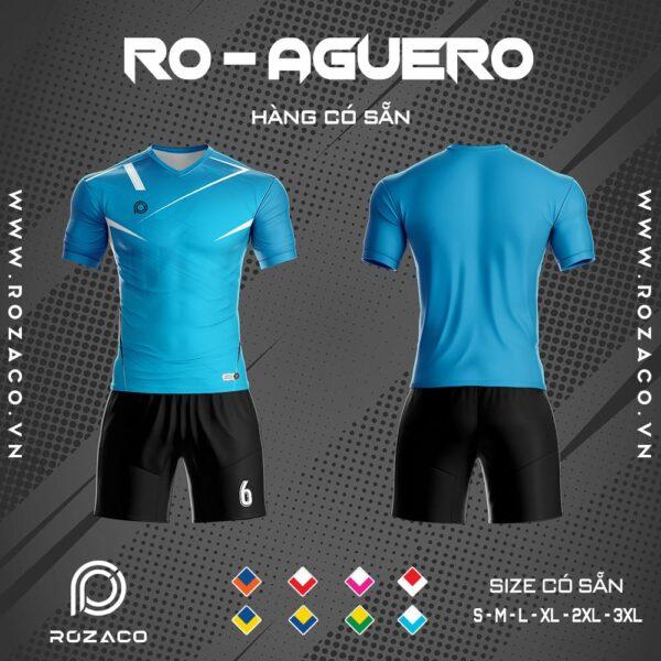 áo bóng đá không logo đơn giản aguero