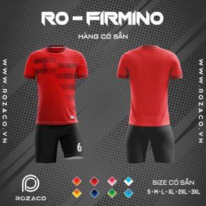 Áo đá banh k logo Firmino màu đỏ vải Thái Lan