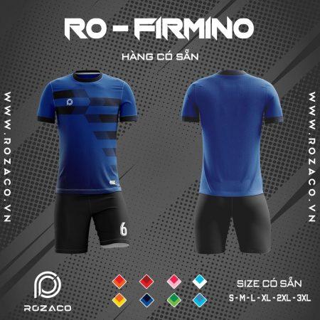 quần áo bóng đá không logo màu xanh dương Firmino
