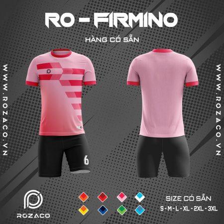 áo đá bóng không logo màu hồng Firmino