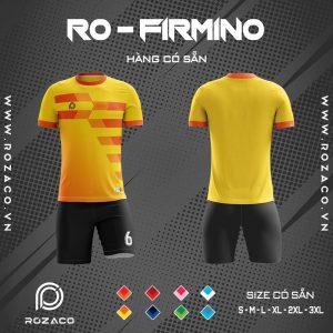 quần áo bóng đá không logo màu vàng Firmino