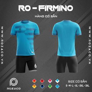 đồng phục bóng dá không logo Firmino màu xanh dương nhạt