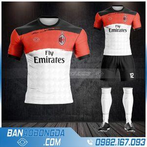 quần áo bóng đá AC Milan màu trắng đỏ HZ 393
