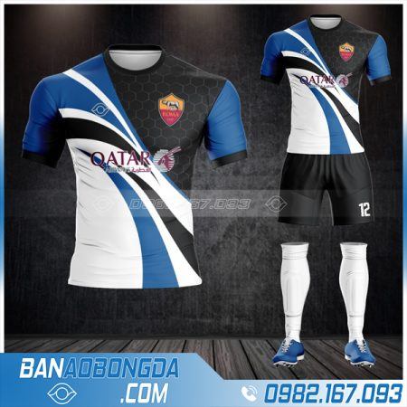 áo bóng đá As roma tự thiết kế đẹp