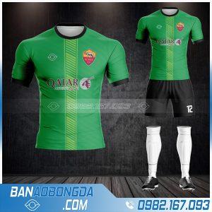 áo clb AS Roma đẹp màu xanh lá