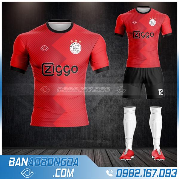 áo Ajax Amster đam chế màu đỏ HZ 394 cực lạ