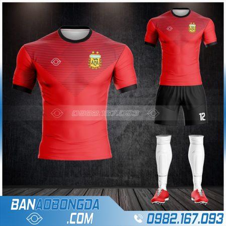 áo bóng đá Argentina màu đỏ HZ 474 giá rẻ