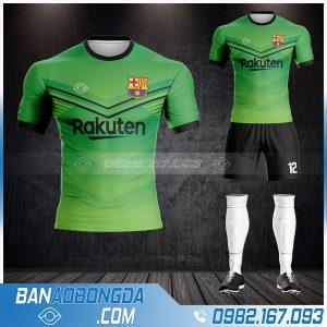 áo bóng đá Barcelona chế màu xanh lá đẹp