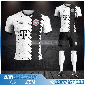 Áo bóng đá Bayern Munich màu trắng HZ 416 màu trắng giá rẻ