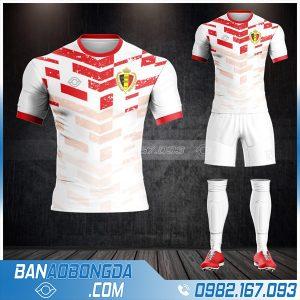 áo bóng đá đội tuyển bỉ HZ 477 màu trắng