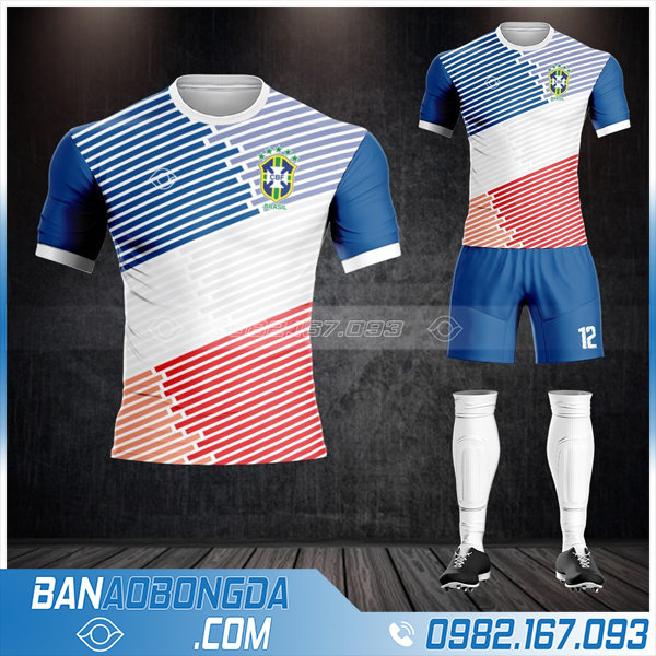 áo đội tuyển Brazil tự thiết kế đẹp HZ 485