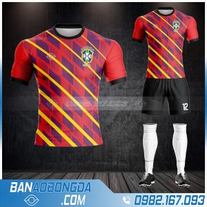 áo Đt Brazil đẹp và độc HZ 487 màu đỏ