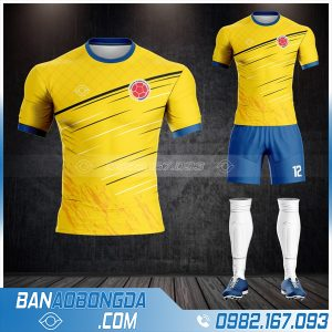 áo colombia 2021 tự chế màu vàng cực đẹp