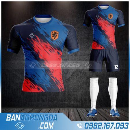 áo Hà Lan 2021 màu tím than rẻ đẹp HZ 503