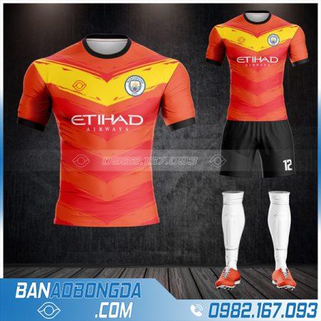 Áo Manchester City tự thiết kế màu cam HZ 452