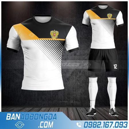 áo đội tuyển Nga tự thiết kế màu trắng đẹp