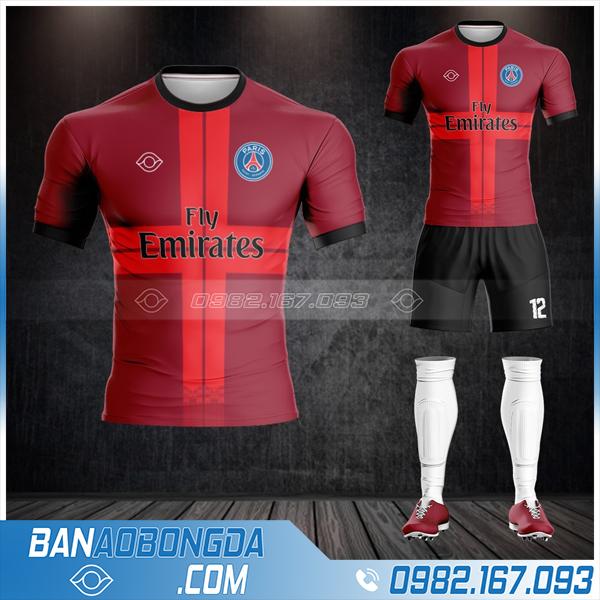 áo PSG 2021 tự chế màu đỏ