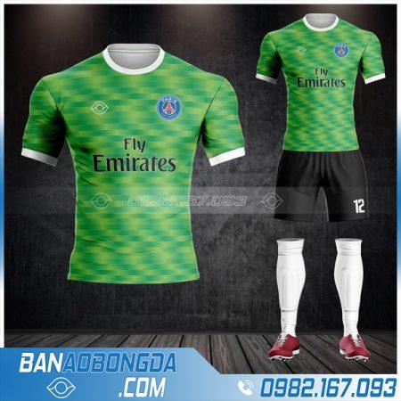 áo Paris Saint Germain thiết kế màu xanh lá