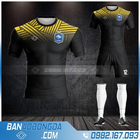 áo bóng đá Pháp HZ 521 màu đen đẹp