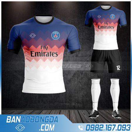 áo bóng đá PSG 2021 tự thiết kế HZ 358 đẹp