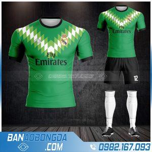 áo Real Madrid tự thiết kế HZ 362 với màu xanh lá cây