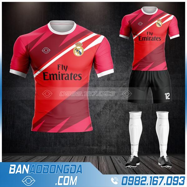 áo bóng đá Real Madrid màu đỏ HZ 364