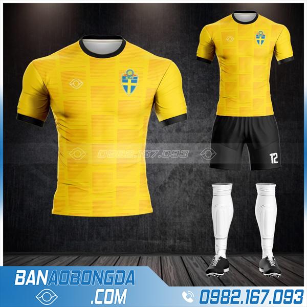 áo đội tuyển Thụy Điển 2021 màu vàng rẻ đẹp