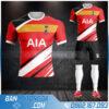 áo đấu Tottenham tự chế màu đỏ