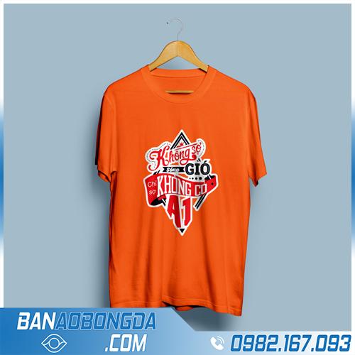 áo đồng phục lớp cổ tròn màu cam HZ02 đẹp