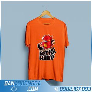 áo phông đồng phục nhóm màu cam HZ 03