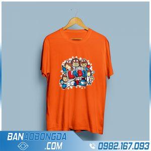 áo đồng phục lớp đẹp HZ 05 màu cam