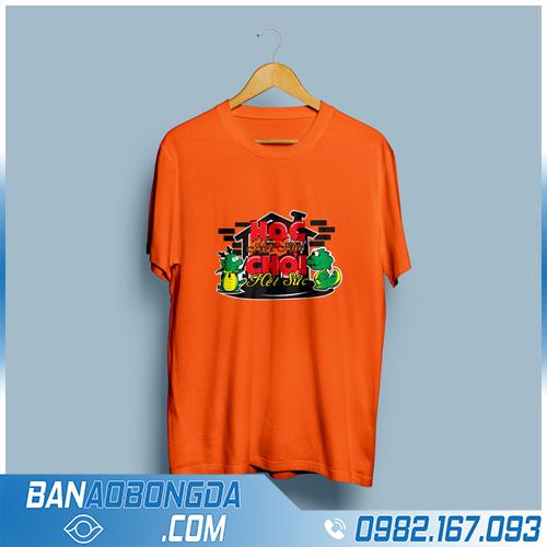 áo đồng phục lớp màu cam đẹp và chất HZ 08