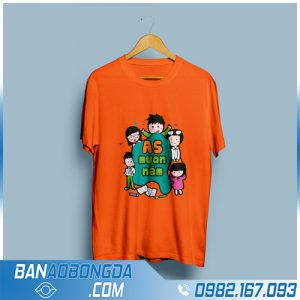 áo lớp cổ tròn HZ 09 màu cam mới nhất