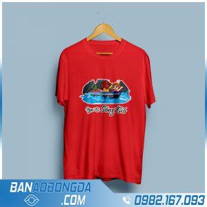 áo phông đồng phục màu đỏ HZ 33 cực chất