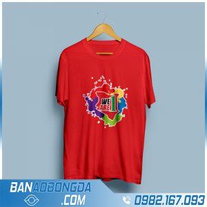 áo thun đồng phục màu đỏ HZ 34 mới và đẹp