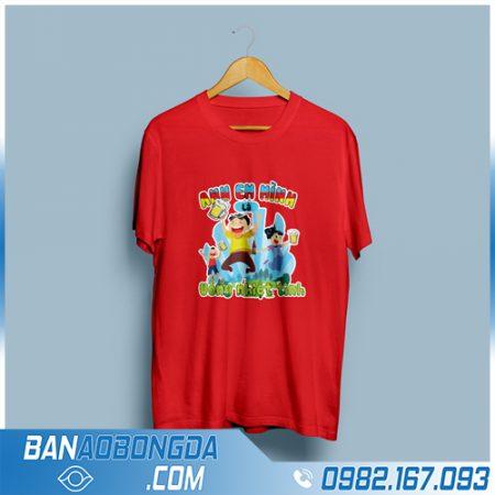 áo phông công ty màu đỏ HZ 39