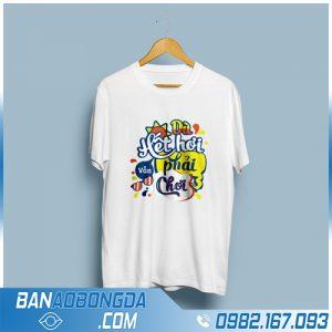 áo phông đồng phục màu trắng mới nhất HZ 80